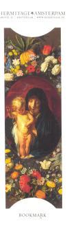 Мадонна с младенцем в венке из цветов
